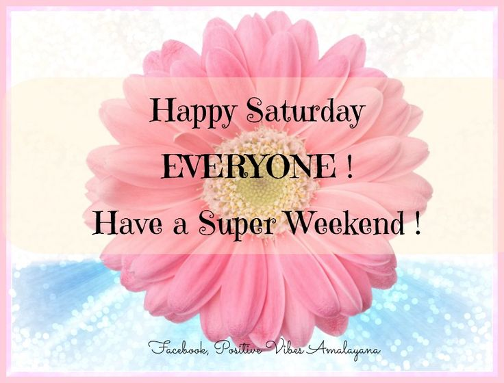 Have a great Saturday everybody and have a peaceful