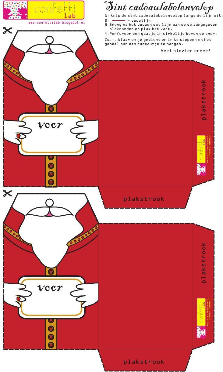 Confetti Lab Sint Label Envelop