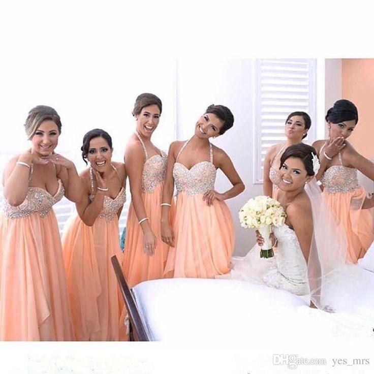 17 best ideas about Peach Bridesmaid Dresses on Pinterest | June ...