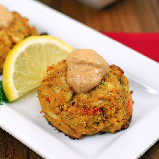 Paleo Cajun Crab Cakes with remoulade sauce - use mayo instead of coconut cream and low carb ketchup and gluten-free worcestershire sauce