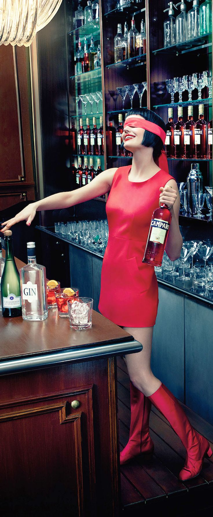 Happy New Year- Eva Green- Campari Calendar 2015- #LadyLuxuryDesigns