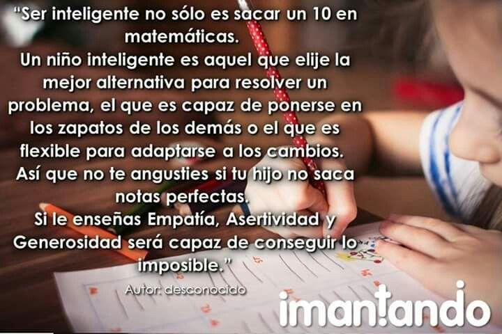 #FelizDía, ¿Qué es un niño inteligente?,¿Cómo se mide su inteligencia?, ¿Qué se le debe enseñar? #Padres #Niños #Crianza