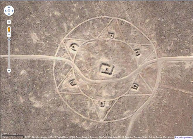 Nevada Desert Crop Circle Brings A Whole New Meaning To
