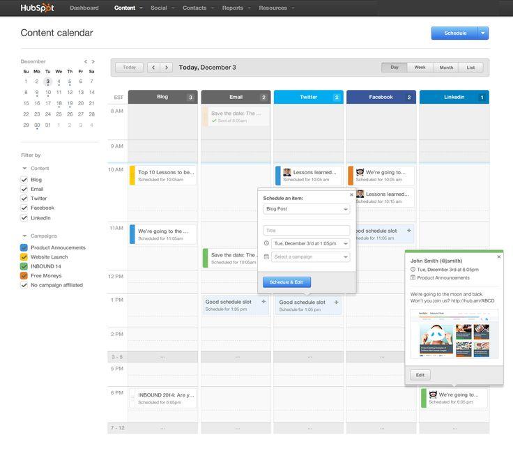 Content Calendar – Amy Guan, via Dribbble