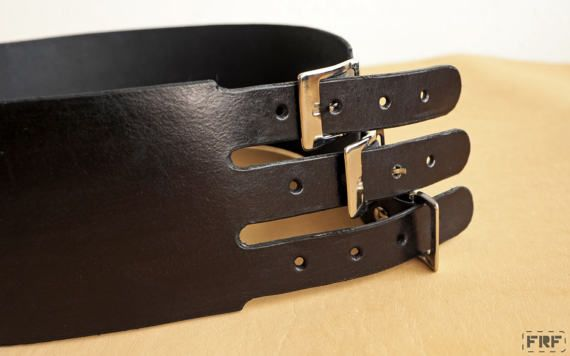 Handmade Leather Ladies Waist Belt vegtanned by FRFhandcraft