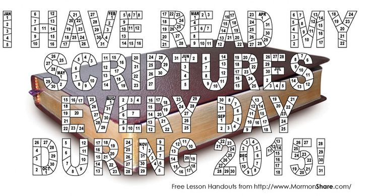 2015 Scripture Reading Chart - Free Download from Jenny Smith