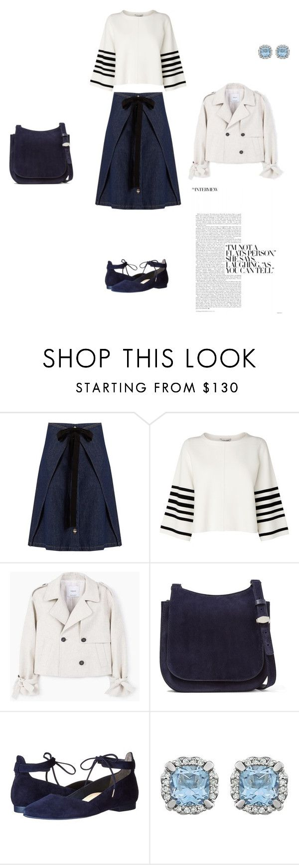 """""""Untitled #10257"""" by explorer-14576312872 ❤ liked on Polyvore featuring MM6 Maison Margiela, L.K.Bennett, MANGO, The Row and Paul Green"""