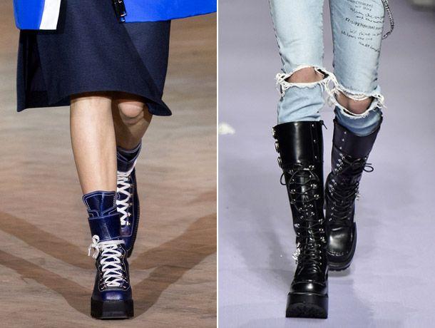 Модные сапоги с рифленой подошвой 2017