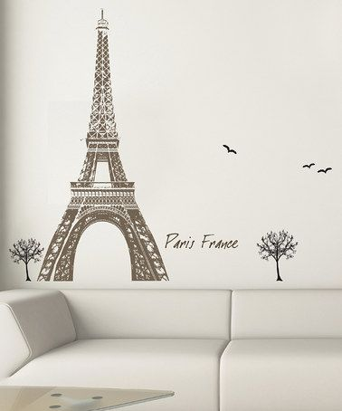 Take a look at this Black & Brown Eiffel Tower Wall Decal Set by Art Applique on #zulily today!