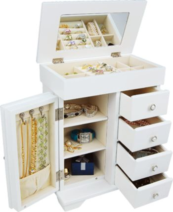 128 best Jewelry Box Armoire images on Pinterest Boxes Jewelry