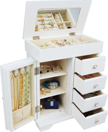 Hope - White Four Drawer Jewellery Box