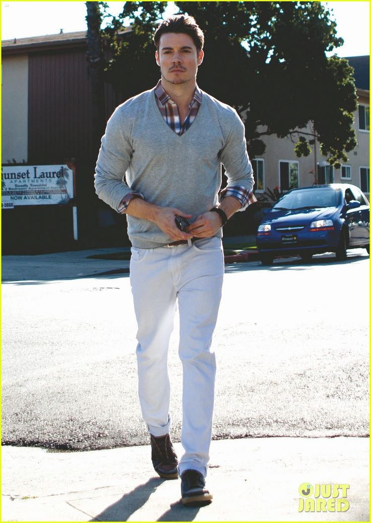 Josh Henderson....love this look! I think my Hubby can so pull this one off!.