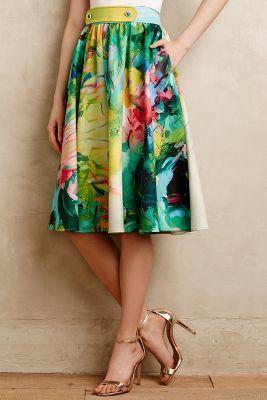 Troubador Fauvism Midi Skirt #anthrofave