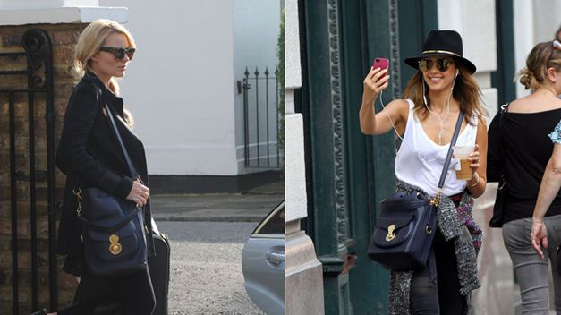 Margot Robbie y Jessica Alba, fans del bolso Ricky Drawstring de Ralph Lauren Collection