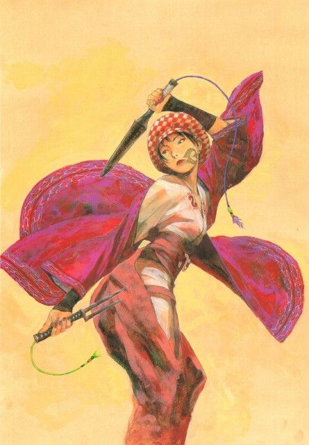 Hiroaki Samura, Blade of the Immortal, BotI Illustration Collection, Doa Yoshino