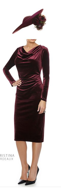 Christina bordeaux deep red velvet velour bodycon dress: Our range of wedding outfits and celebration styles for busty women include party dresses, classic coktail dresses, velvet wrap dresses, sparkly and gold cocktail dresses, jumpsuits, bold prints, warm jewel tones , lace bodycon dresses, body-sculpting styles, little black dresses, little red dresses, velour trousers, floral tops, silk tunic tops, caped dresses, sweetheart necklines and much more.