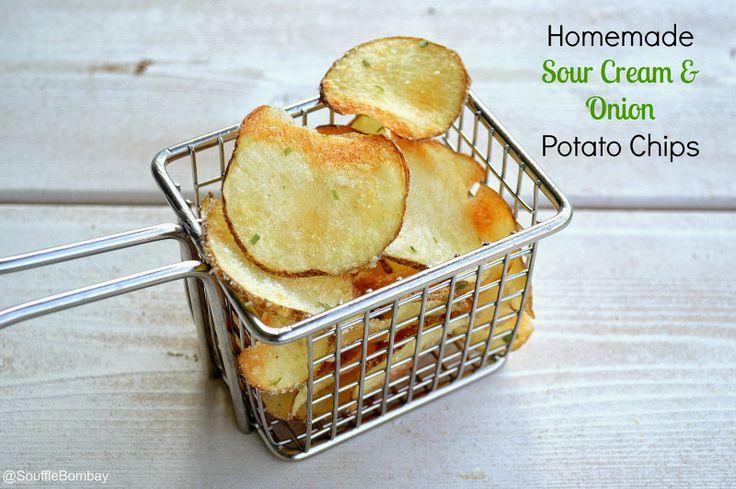 Homemade Sour Cream & Onion Potato Chips / Souffle Bombay