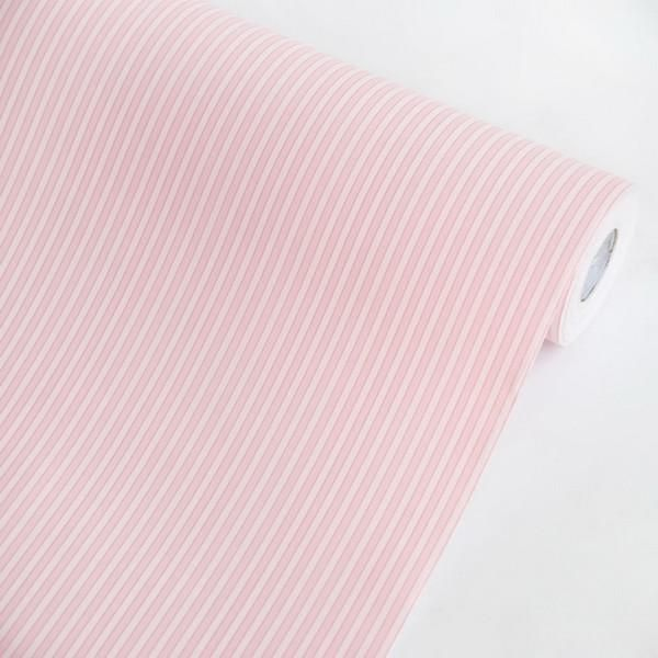 Pink Stripes - Vinyl Self-Adhesive Wallpaper Prepasted Wall stickers Wall Decor (Roll)