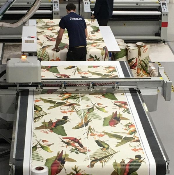 Soil Designs Parrot Cream Wallpaper is taking shape at our UK partners @pressonuk