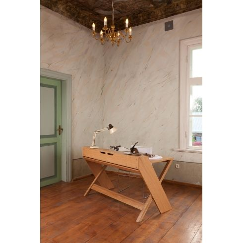 Ravenscroft Cross Leg Desk #interiordesign #woodman #furniture #homedecor  #livingroom #home #designerfurniture | Woodman | Pinterest | Contemporary  ...