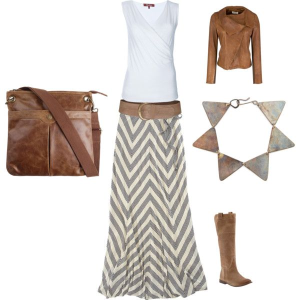 grey and brown...love the skirt!