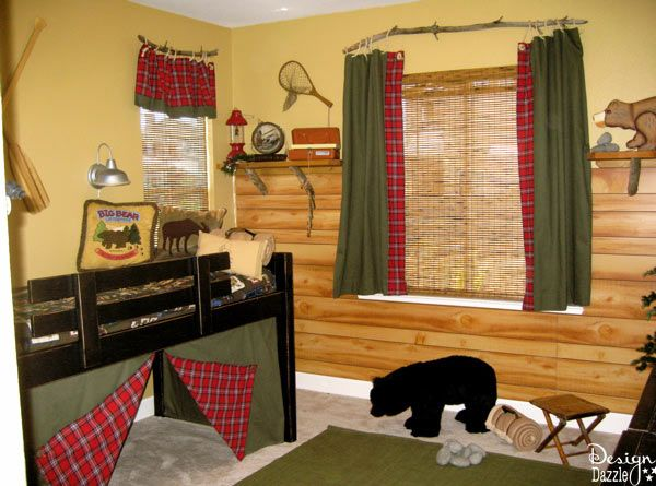 Boys fishing and camping theme bedroom - Design Dazzle