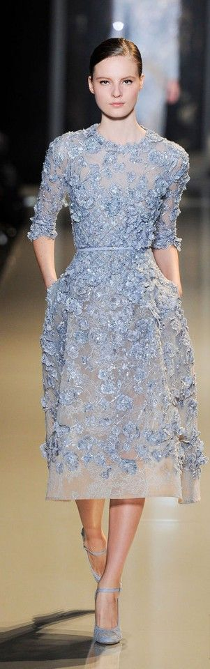 Paris Haute Couture: Elie Saab spring/summer 2013...elongated it is very close to blair waldorf's wedding dress to chuck