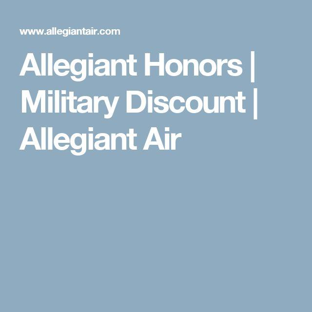 Allegiant Honors | Military Discount | Allegiant Air