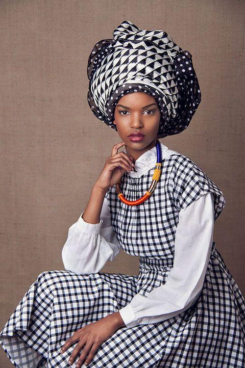 """The Head Dress"" Editorial by South African photographer Lauren Fletcher #geometric #pattern"
