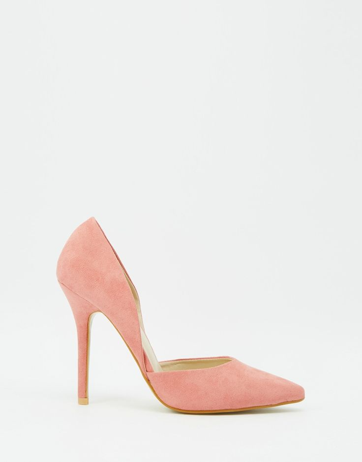 Image 2 of True Decadence Pink Heeled Court Shoes