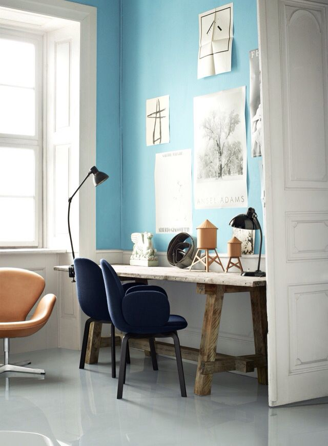 vogue living | samman chairs by Jaime Hayon | brightly coloured walls | statement chairs