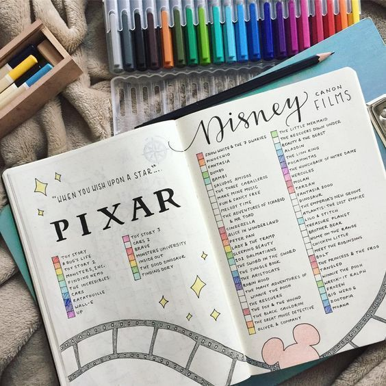 26 Enchanting Disney Bullet Journal Spreads and ideas that inspire your imagination