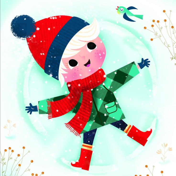 L'hiver Nathalie Taylor Studio Illustration