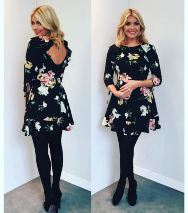 Holly Willoughby This Morning | This Morning star Holly Willoughby wearing Topshop dress, Instagram ...