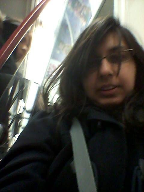 Selfie at Dundas wen going to Islington station