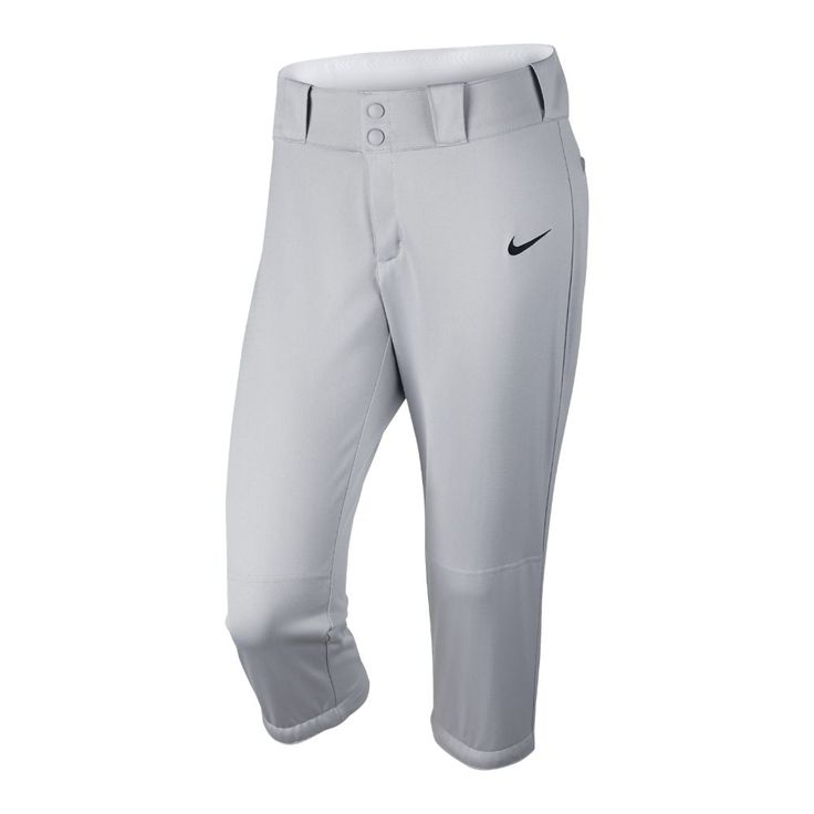 Nike Diamond Invader Three-Quarter Women's Softball Pants Size Medium (Grey) - Clearance Sale
