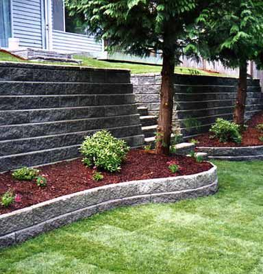 Best Garden Retaining Wall Images On Pinterest Garden
