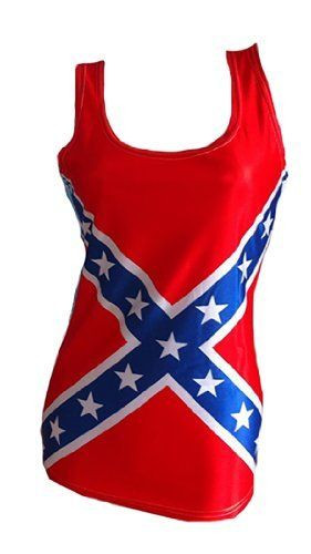 Southern Designs Rebel Flag Tank Top Shirt - All Over Print For Women In Junior Sizing, http://www.amazon.com/dp/B00BOSRP6E/ref=cm_sw_r_pi_awdm_Y67tub1PECW6V