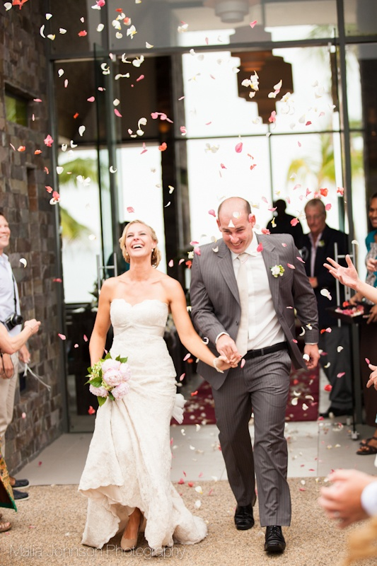 Flower shower!!!  A great way to make an exit in Fiji!  MaliaJohnson.com/blog
