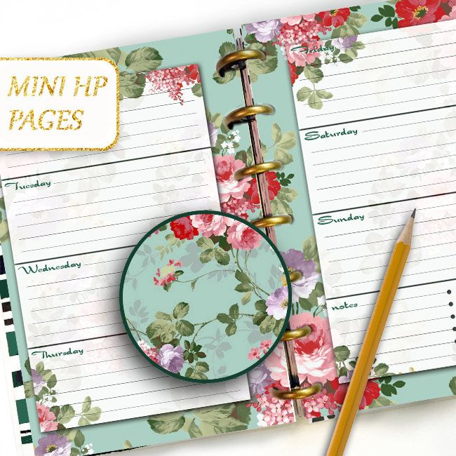 Excited to share the latest addition to my #etsy shop: Daily Planner MINI Happy Planner Printable Pages Weekly Insert Refill Digital Refills Emerald Blue pink Flowers Sheet Spring Blue Background http://etsy.me/2AWzfat #papergoods #blue #pink #dayplanner #dailyjournal #dailyinser