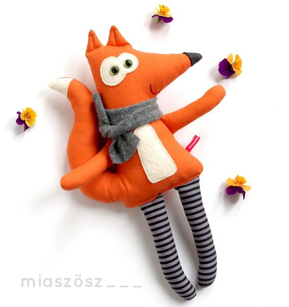 12 Handmade Unique Fox toy  stuffed fox  plushie fox  by MiaZzz
