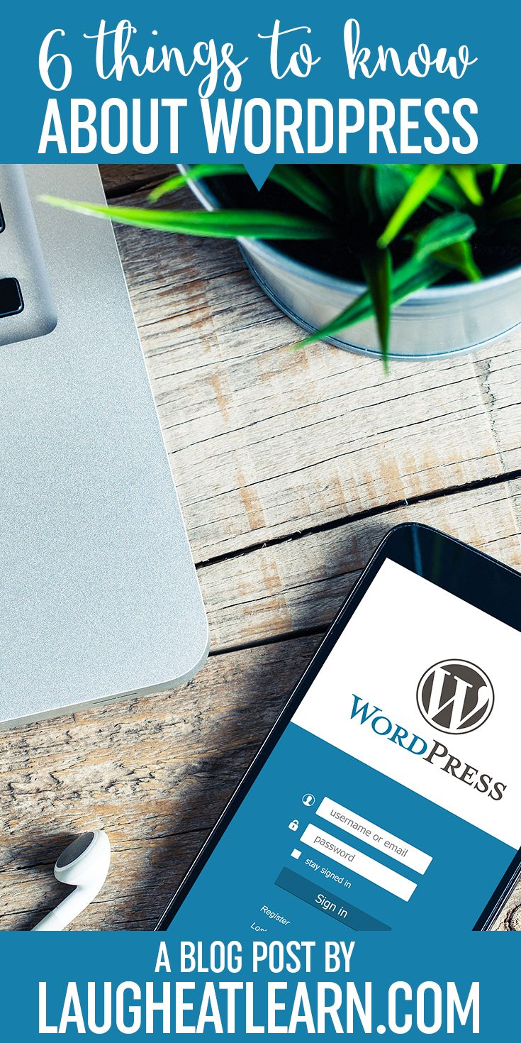 I'm sharing some important things for beginners to know about the platform including plugins, themes, security, and some facts about SEO. I'll even explain the difference between Wordpress.com and Wordpress.org