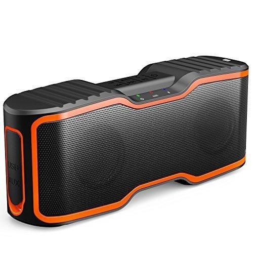 AOMAIS Sport II Portable Wireless Bluetooth Speakers 4.0 with Waterproof IPX720W Bass SoundStereo PairingDurable Design for iPhone /iPod/iPad/Phones/Tablet/Echo dotGood Gift(Orange)