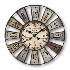 Large Vintage Style Bistro De Paris Wall Clock 9130 80 Cm 32