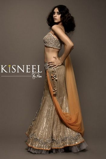 Kisneel by Pam Mehta bridal lehenga