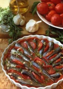 Sardines au four à la tomate