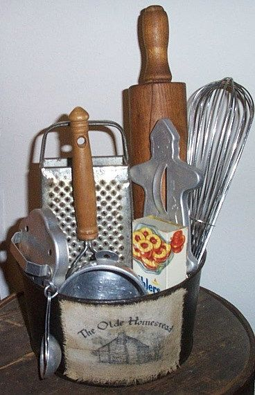 Vintage Kitchen Gathering - Centerpiece - Vintage Kitchen Utensils Lot on Etsy, $10.99