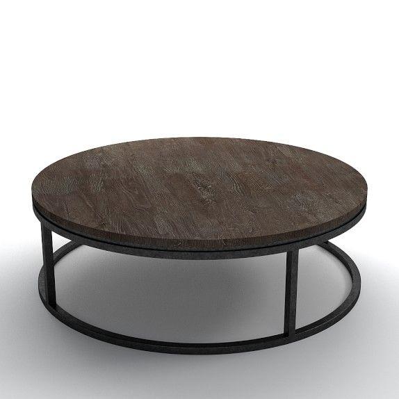 Bowen Round Coffee Table, Distressed Oak, 48