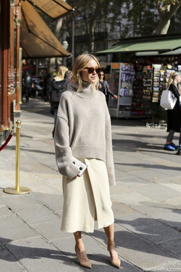 oversized sweater + skirts - style to try on apartment34.com