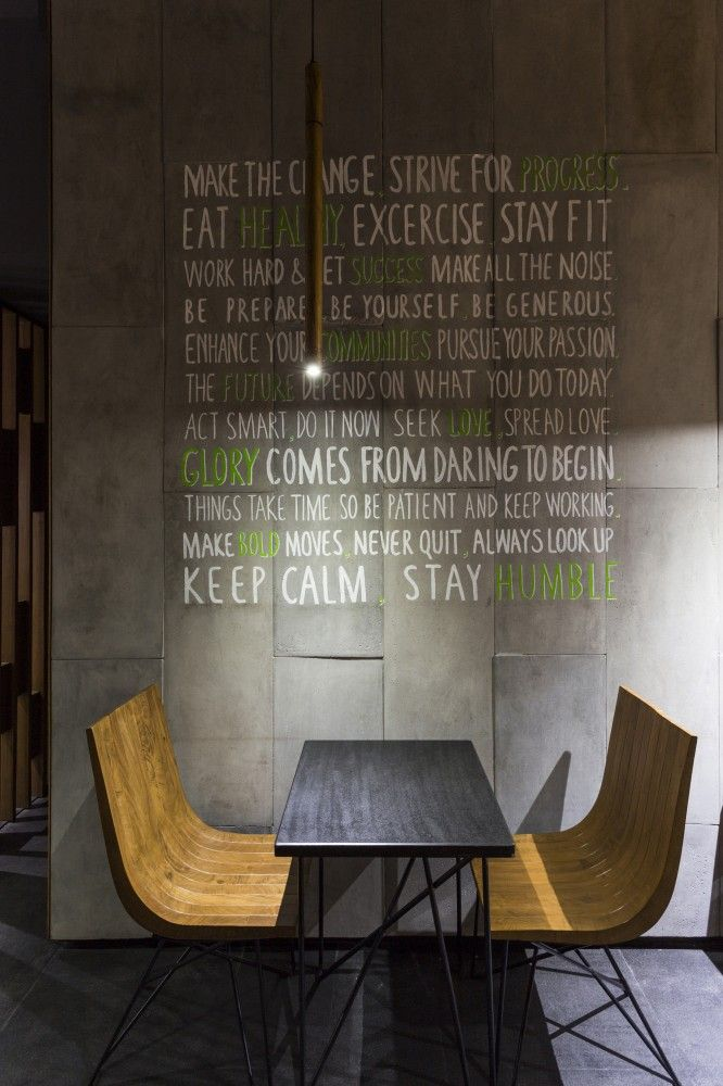"""Need to """"exercise"""" their spelling muscle. #wallgraphic"""